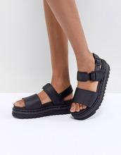 Dr. Martens | Черные кожаные сандалии Dr Martens Voss - Черный | Clouty