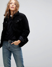 LEE | Джинсовая куртка с воротником из искусственного меха Lee - Черный | Clouty