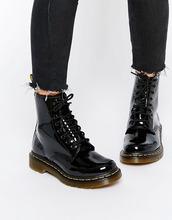 Dr. Martens | Лакированные ботинки с 8 парами люверсов Dr Martens modern classics - Черный | Clouty