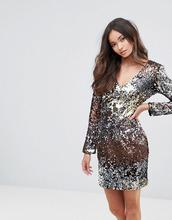 Club L | Платье мини с V-образным вырезом, пайетками и эффектом омбре Club L | Clouty
