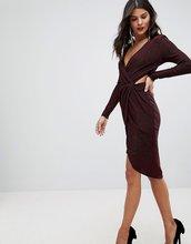 Morgan | Платье мини с вырезами и запахом Morgan - Красный | Clouty