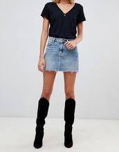 AllSaints | Джинсовая мини-юбка с заклепками AllSaints Вetty - Синий | Clouty