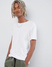 Weekday | Белая футболка с необработанными краями Weekday - Белый | Clouty