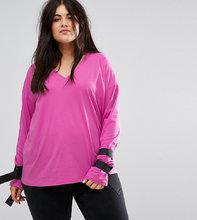 ASOS | Футболка с завязками и D-образными пряжками ASOS CURVE - Розовый | Clouty