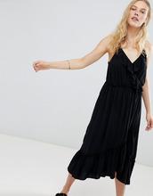 Maison Scotch | Ярусное платье миди с оборками Maison Scotch - Черный | Clouty