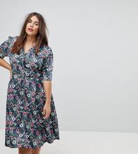Uttam Boutique | Платье на пуговицах с цветочным принтом Uttam Boutique Plus - Мульти | Clouty