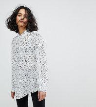 Reclaimed Vintage | Рубашка с рюшами на рукавах и принтом Reclaimed Vintage Inspired - Кремовый | Clouty