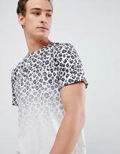 New Look | Белая футболка с выцветшим леопардовым принтом New Look - Белый | Clouty