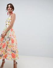 ASOS | Платье миди для выпускного с цветочной вышивкой и халтером ASOS EDITION - Мульти | Clouty