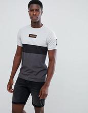 Jack & Jones | Футболка со вставками и логотипом-нашивкой Jack & Jones Core - Серый | Clouty