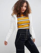 Parisian   Дутая куртка с отделкой искусственным мехом Parisian - Кремовый   Clouty