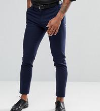ASOS   Темно-синие укороченные брюки скинни ASOS TALL - Темно-синий   Clouty