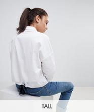 Noisy May | Рубашка с завязкой на спине Noisy May Tall - Белый | Clouty