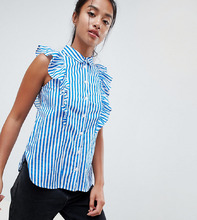 Noisy May | Рубашка с оборкой Noisy May Petite - Мульти | Clouty