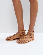 ASOS | Кожаные сандалии ASOS FRISBEE - Рыжий | Clouty