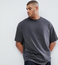 ASOS | Черная выбеленная oversize-футболка ASOS DESIGN Tall - Черный | Clouty
