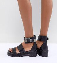 ASOS | Гладиаторские премиум-сандалии из кожи ASOS DESIGN - Черный | Clouty