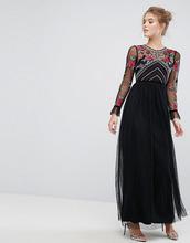 Frock And Frill | Премиум-платье макси с длинными рукавами и вышивкой Frock And Frill | Clouty