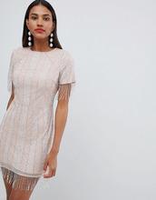 ASOS | Платье миди с кисточками на рукавах ASOS DESIGN Premium - Бежевый | Clouty