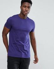 ASOS | Фиолетовая футболка с круглым вырезом ASOS DESIGN - Синий | Clouty