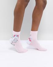 ASOS | Носки с единорогом ASOS DESIGN - Белый | Clouty