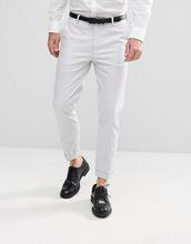 ASOS   Светло-серые укороченные брюки скинни из хлопкового сатина ASOS Weddin   Clouty