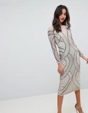 ASOS | Облегающее платье миди с отделкой ASOS EDITION - Кремовый | Clouty