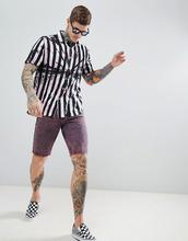 ASOS   Фестивальная рубашка оverszie в полоску тай-дай с отложным воротником   Clouty