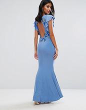 Club L | Платье макси с расклешенными рукавами и цветочной вышивкой на спине Cl | Clouty