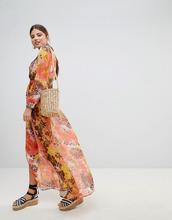 Boohoo | Пляжное платье макси с принтом Boohoo - Мульти | Clouty