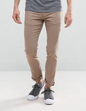Loyalty & Faith | Зауженные джинсы песочного цвета с легкой потертой отделкой Loyalty and Faith - Светло-бежевый | Clouty