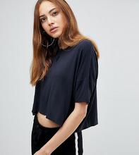 ASOS | Укороченная оверсайз-футболка с пуговицами спереди ASOS TALL - Серый | Clouty