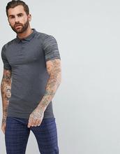 ASOS | Обтягивающая футболка-поло с контрастными рукавами реглан ASOS - Серый | Clouty