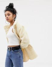 Blend She | Пальто из искусственного меха с высоким воротником Blend She Fenny - Кремовый | Clouty