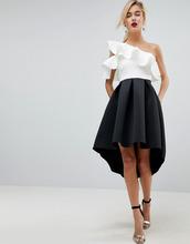 ASOS | Платье для выпускного на одно плечо с оборкой и асимметричным краем AS | Clouty