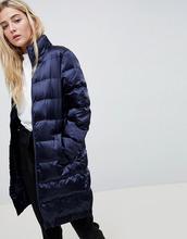 Blend She | Длинное стеганое пальто Blend She - Темно-синий | Clouty