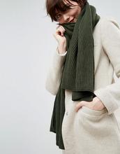 ASOS | Длинный шарф в рубчик из переработанного полиэстера ASOS - Зеленый | Clouty