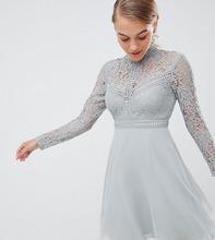 Little Mistress | Короткое платье для выпускного с кружевным топом Little Mistress Petite - Зеленый | Clouty