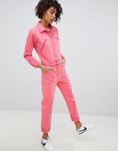 ASOS   Розовый джинсовый комбинезон ASOS DESIGN - Розовый   Clouty