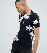 Religion | Обтягивающая футболка с пальмовым принтом Religion - Черный | Clouty