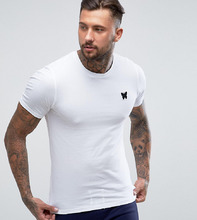 Good For Nothing | Белая облегающая футболка с логотипом на груди Good For Nothing - Белый | Clouty