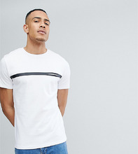 Selected Homme   Футболка с полосками и карманом Selected Homme - Белый   Clouty