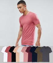 ASOS   Набор из 10 облегающих футболок с круглым вырезом ASOS DESIGN - СКИДКА   Clouty