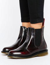 Dr. Martens | Бордовые ботинки челси Dr Martens Kensington Flora - Красный | Clouty