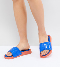 NIKE | Синие шлепанцы Nike Benassi Ultra Luxe - Желтый | Clouty