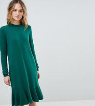 Y.A.S.   Трикотажное платье с оборкой Y.A.S Tall - Зеленый   Clouty