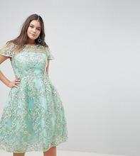 ASOS | Платье миди с пайетками ASOS EDITION Curve - Зеленый | Clouty