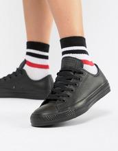 CONVERSE | Черные кожаные кроссовки Converse Chuck Taylor Ox - Черный | Clouty