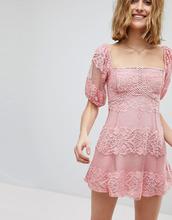 Free People   Кружевное платье мини Free People Be Your Baby - Розовый   Clouty
