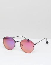 ASOS | Круглые солнцезащитные очки в стиле 90-х ASOS - Черный | Clouty